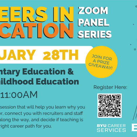 Come to the Careers in Education Panel Series!