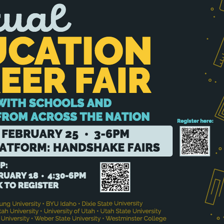 Check out the Education Career Fair!