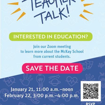 Come to our Teacher Talk!
