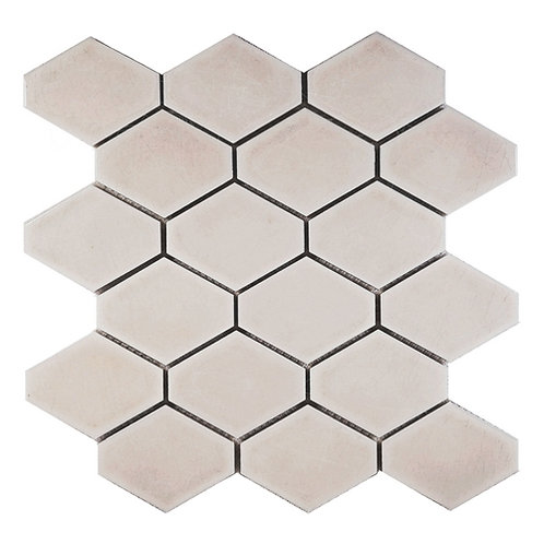 Elongated Hex Crackle Taupe