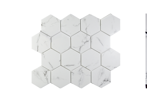"""Recycled Glass 3"""" Hexagon"""