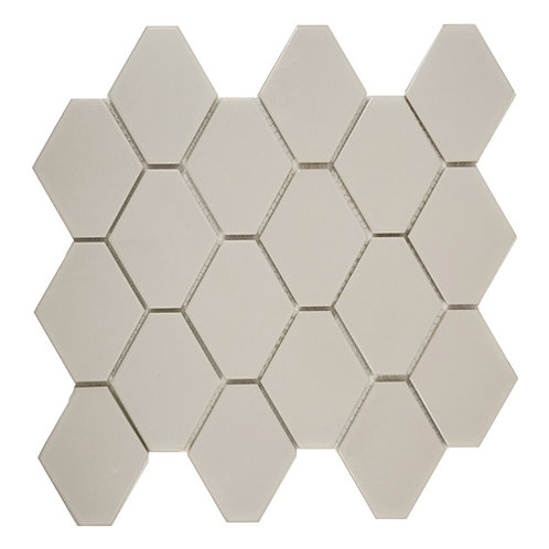 Elongated Hex Matte Taupe