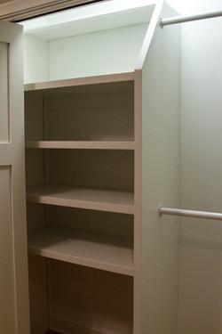 Custom closet storage