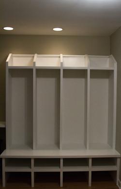 Custom mudroom lockers