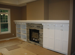 Fireplace Shelving and Cabinets
