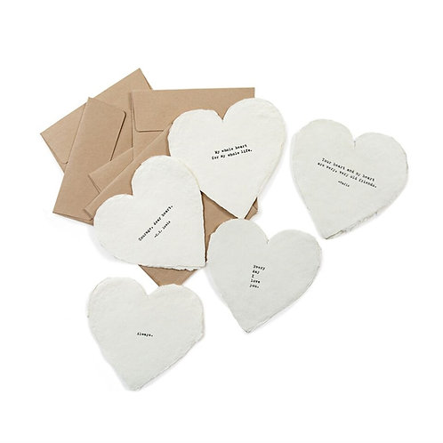 """Sugarboo & Co. """"Deckled Heart Cards & Envelopes"""""""