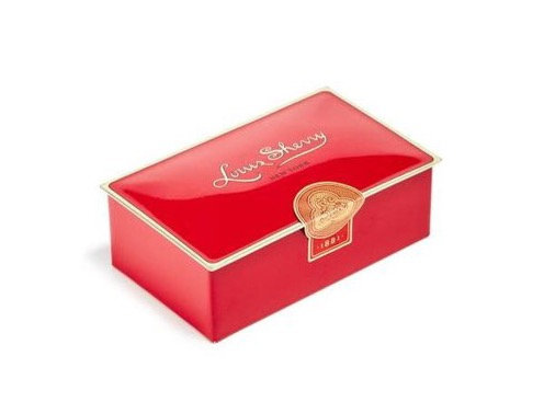 "Louis Sherry Chocolates ""Vreeland Red"" - 2 Piece"