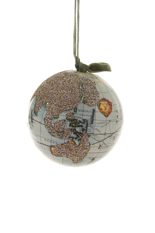 """Glittered World Globe"""