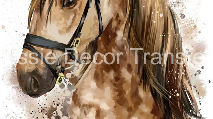 Dappled Brown Watercolour Horse photo print A1