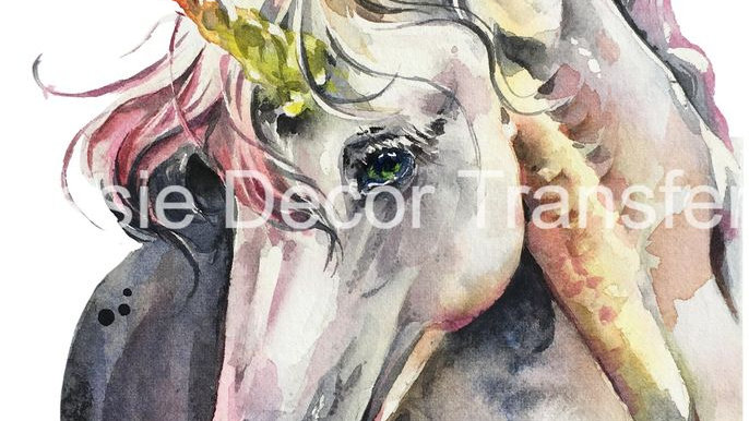 Watercolour Unicorn photo print A3