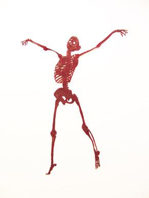 Gudrun Kampl_Skeleton (Red), 2014, Synth