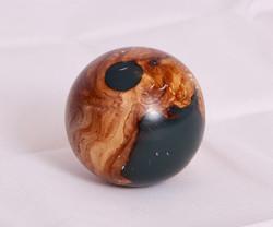 Resin and Burr Elm globe