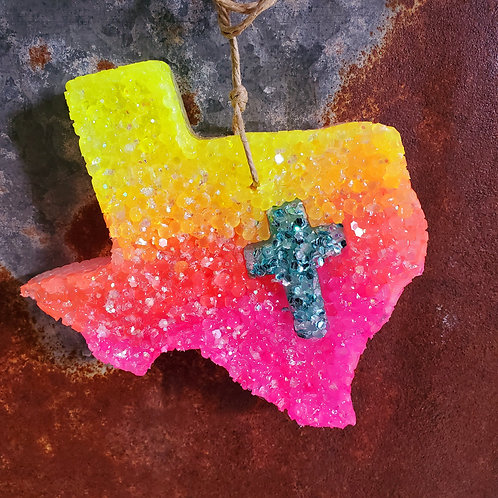 Palo Duro Sunset Ombre Cross Cut Out