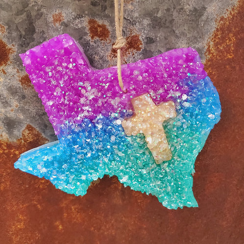 Naked Cowboy Ombre Cross Cut Out Texas