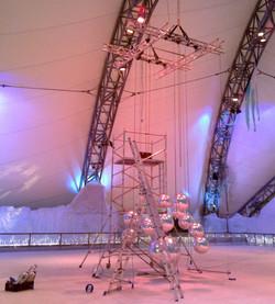 Giant chandelier making