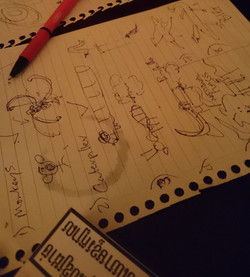 Another puppet design session