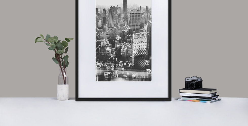 """Concrete Jungle"" Matte Paper Framed Poster With Mat"