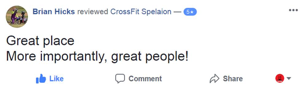 CrossFit Spelaion 5 Star Review