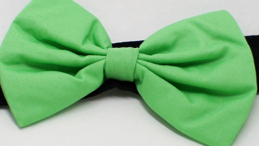Lite Green Bowties (add on to collar)