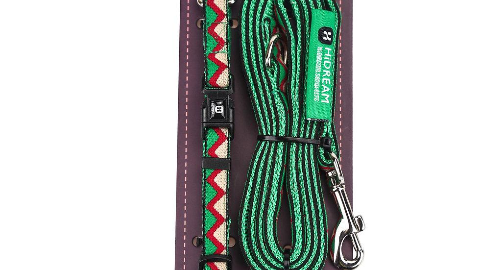 Rainbow Mini Set (Collar & Leash) - Green