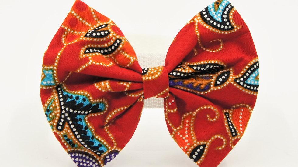 Red Batik Bowtie