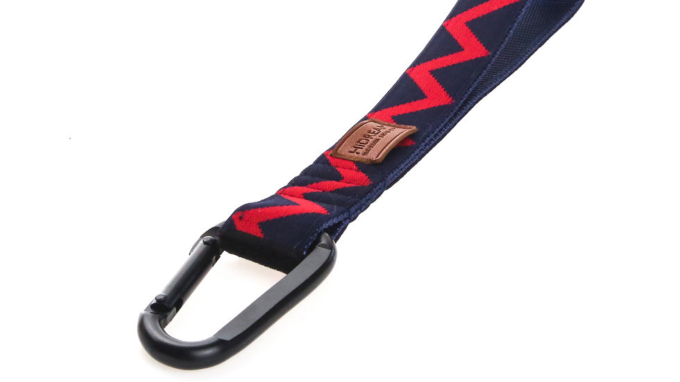 Rainbow Multifunction Short Leash - Navy Blue