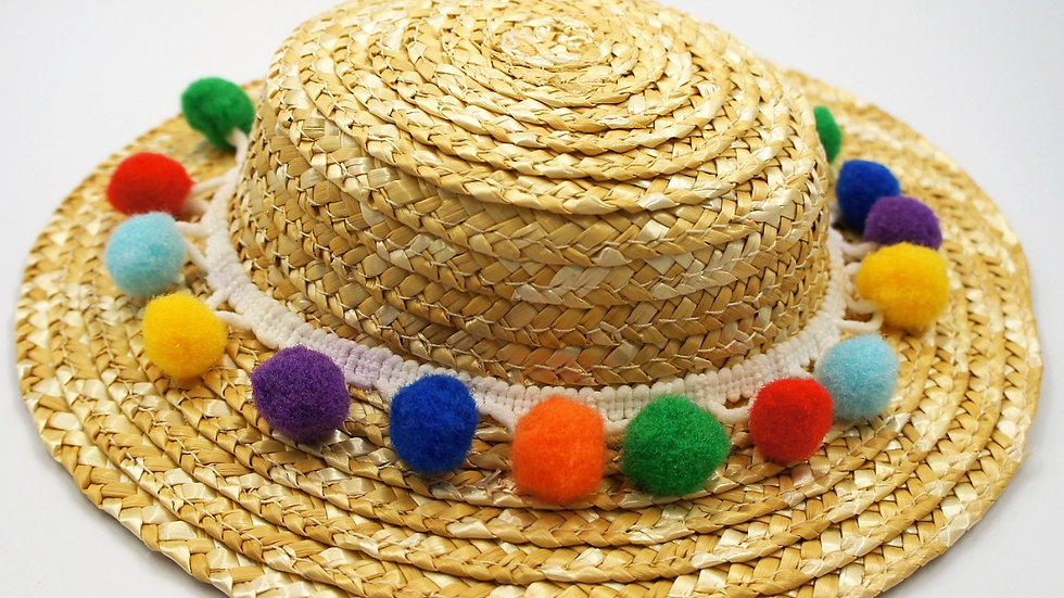 Colourful straw hat
