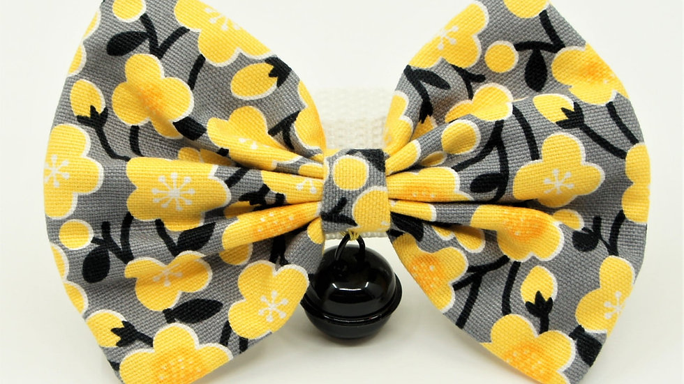 Yellow Flowers with black bell Bowtie