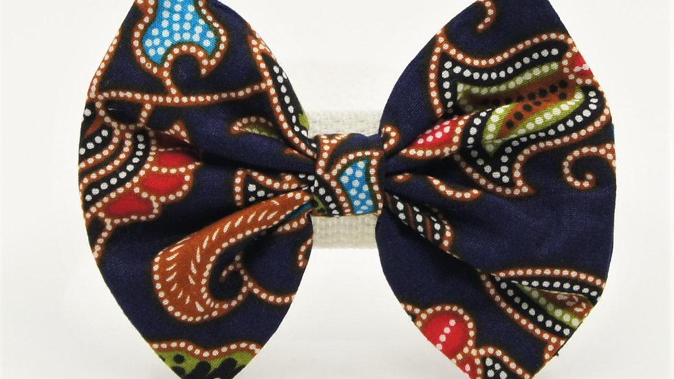 Navy Blue Batik Bowtie