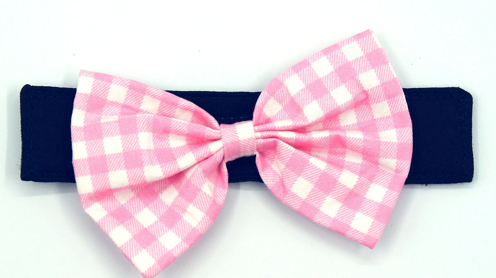 Pink Checked (Add on Bowtie)