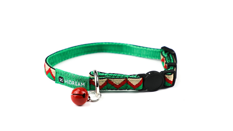 Rainbow Cat Collar - Green
