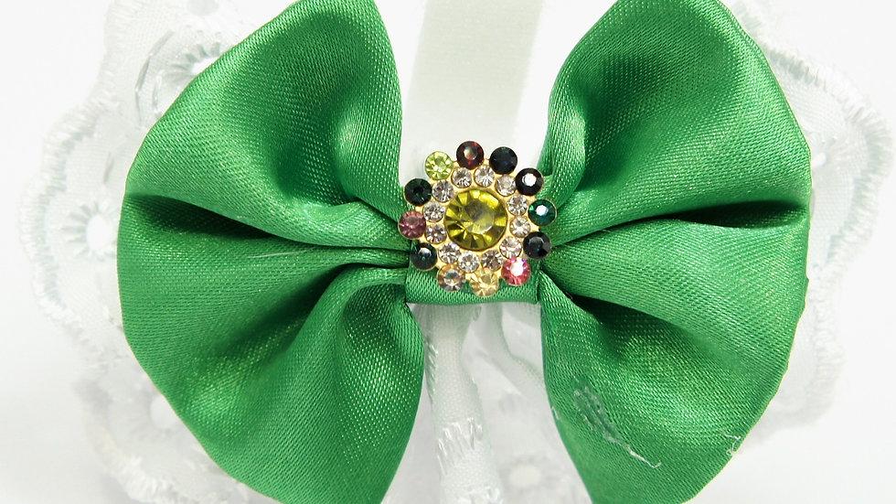 Elegant Lacy Green Bowtie