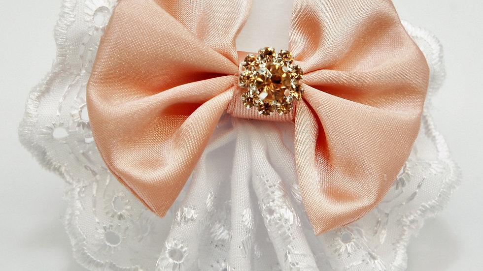 Elegant Lacy Pink Bowtie
