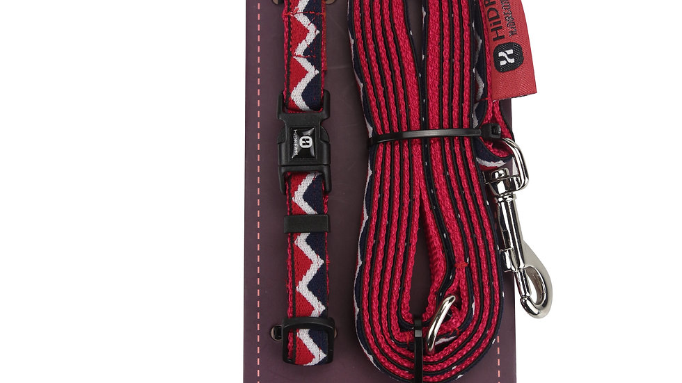 Rainbow Mini Set (Collar & Leash) - Red
