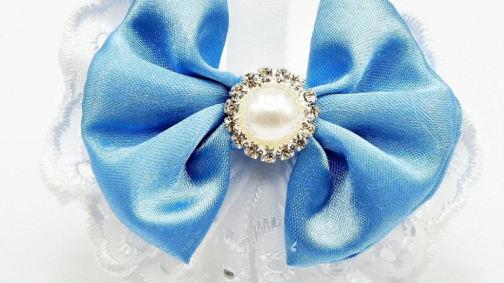 Elegant Lacy BabyBlue Bowtie