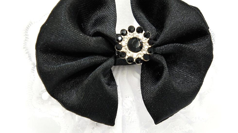 Elegan Lacy Black Standalone Bowtie