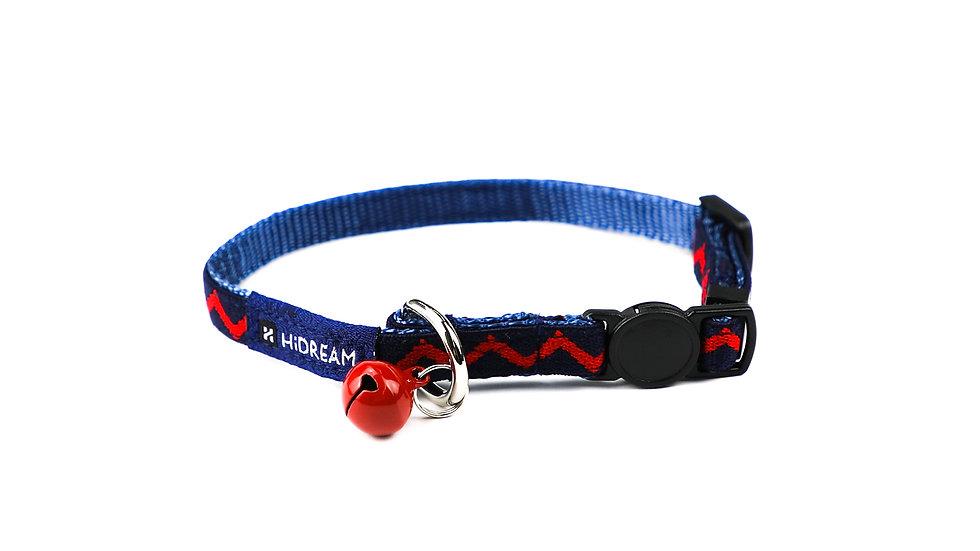 Rainbow Cat Collar - Navy Blue
