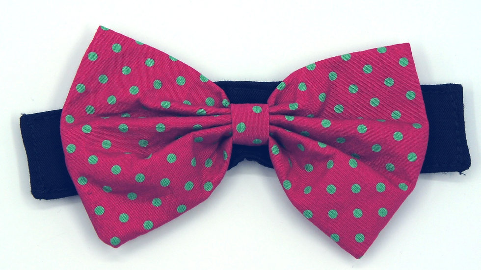 Green dots on Red (Add on Bowtie)