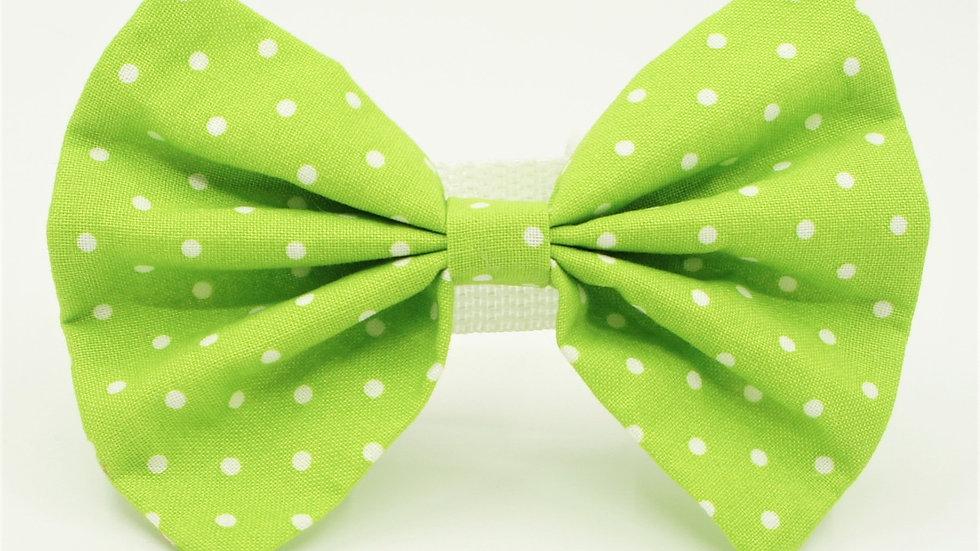 Lime Green Polkerdots Bowtie