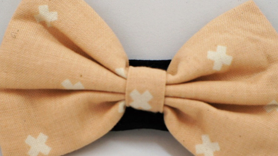 Peach Whitecross Bowtie (add-on to collar)