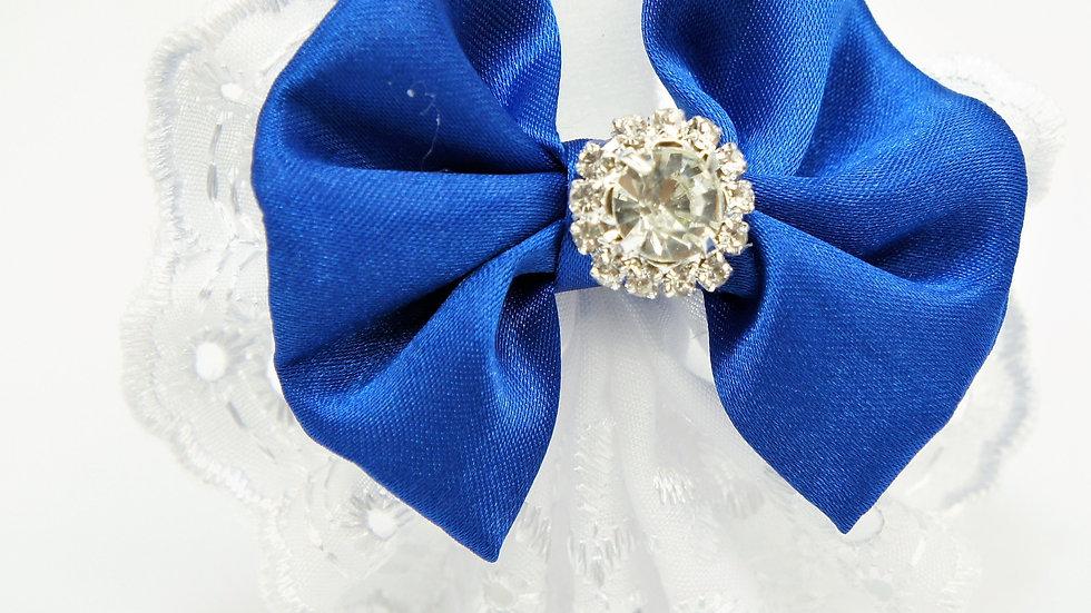 Elegant Lacy Blue Bowtie