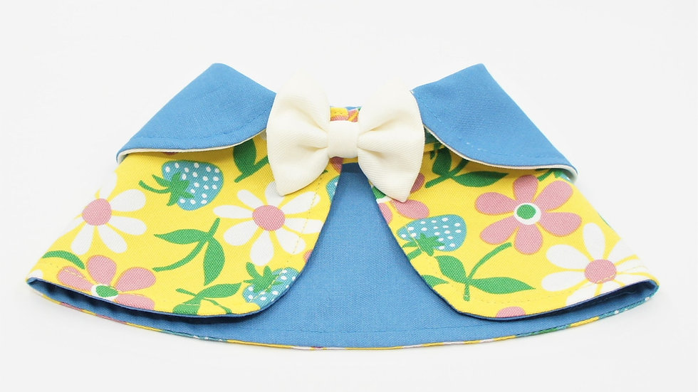 Yellow Flower White Bowtie Cape