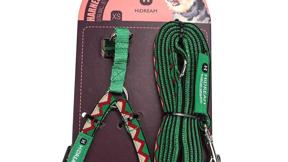 Rainbow Mini Set (Harness & Leash) - Green