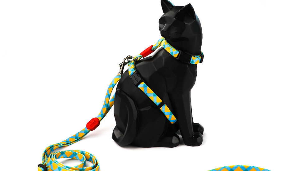 Profusion Cat Harness & Leash Set - Sunrise