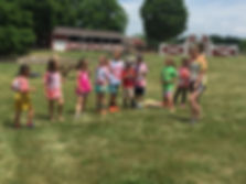 Fun with farm animals at Maybury Farm Camp in Northville, MI