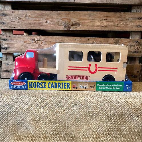 Horse Carrier Wooden Playset