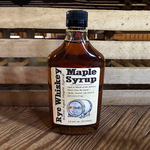 Rye Whiskey Barrel-Aged Maple Syrup