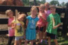 Fun with animals at Maybury Farm Summer Day Camp