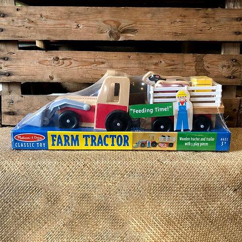 Farm Tractor with Maybury Farm Logo