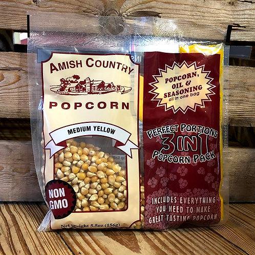 Yellow Non-GMO Popcorn Tri-Pack